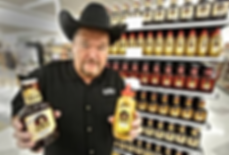 Jim Ross with his range of BBQ sauces