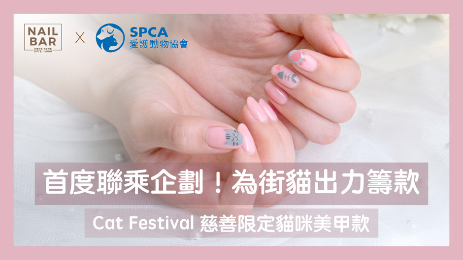 【去片!喵~】Nail Bar x 香港愛護動物協會首度聯乘 愛心美甲企劃 為街貓出力籌款