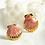 Thumbnail: Brincos Coquillage rosa-ouro