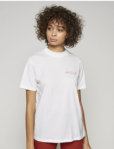 T-shirt branca AMOUR