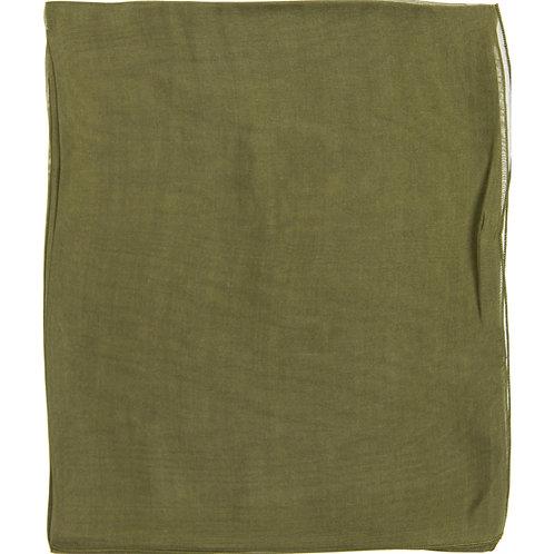 Écharpe em mousseline de seda, olive