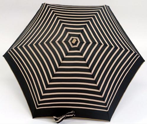 Guarda-chuva, riscas preto-beige