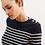 Thumbnail: Camisola MAREE marine, Saint James. Modelo feminino.