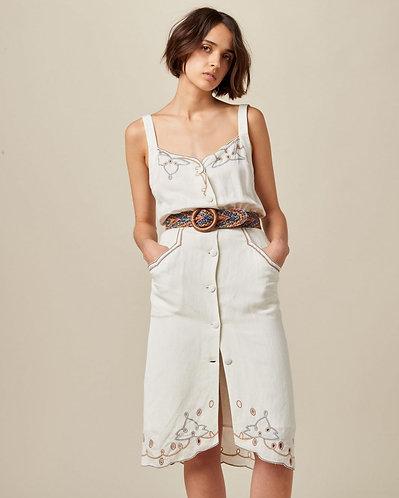vestido PALMA, fleur de sel
