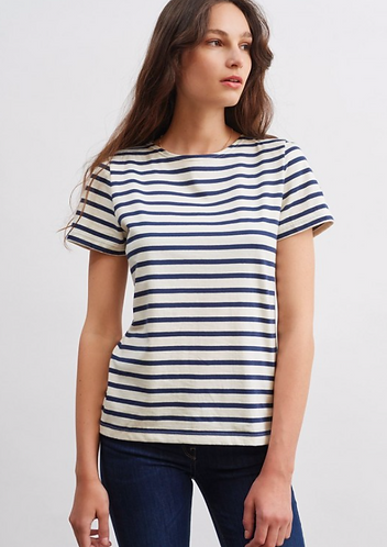 T-shirt ETRILLE II ecru-marine,  Saint James