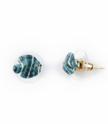 Brincos mini Peixe azul