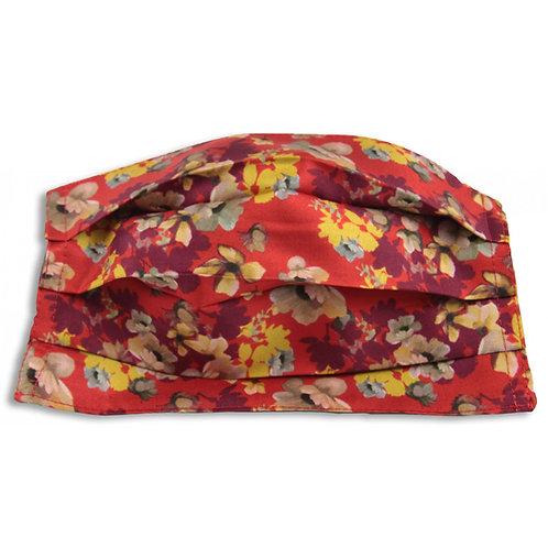 Máscara de seda, flores rouge, Maison Malfroy