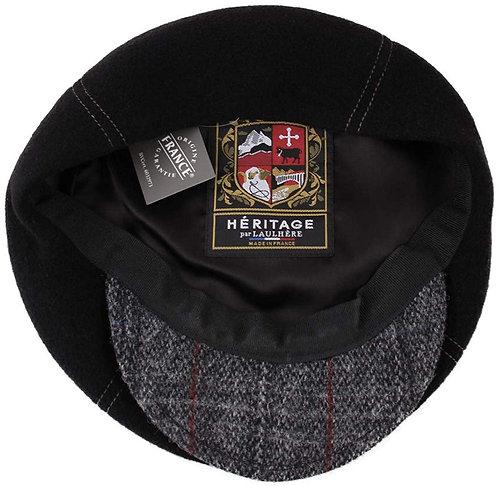 Boné BRANDO, preto e tweed