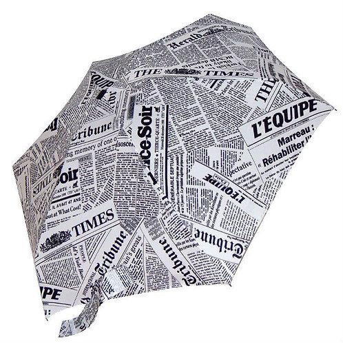 Mini guarda-chuva, jornal, GUY DE JEAN