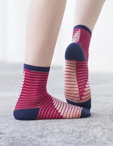 meias SHIBUYA vermelho