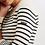 Thumbnail: Camisola MAREE ecru, Saint James. Modelo feminino.