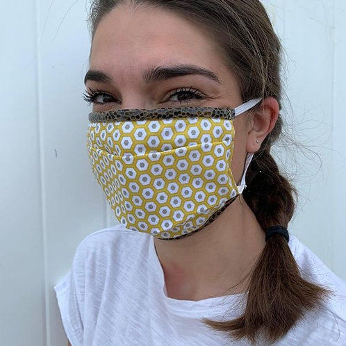 Máscara Bandit Manchot, amarela