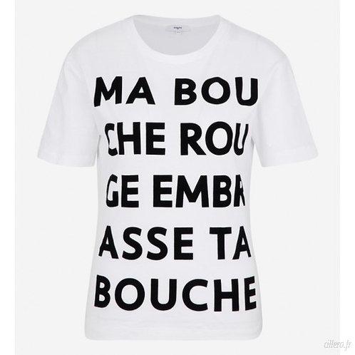 T-shirt MA BOUCHE ROUGE EMBRASSE TA BOUCHE