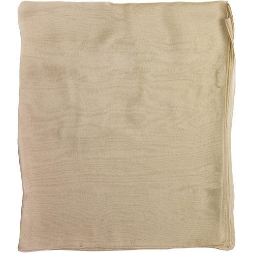 Écharpe em mousseline de seda, beige