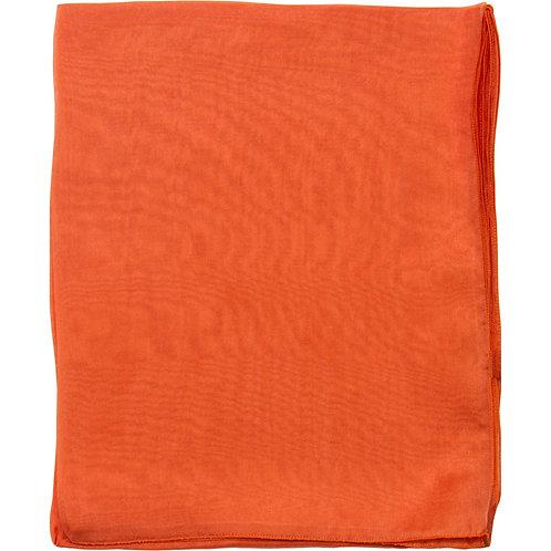 Écharpe em mousseline de seda, orange