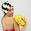 Thumbnail: Swim Bag Flowers One Color Yellow