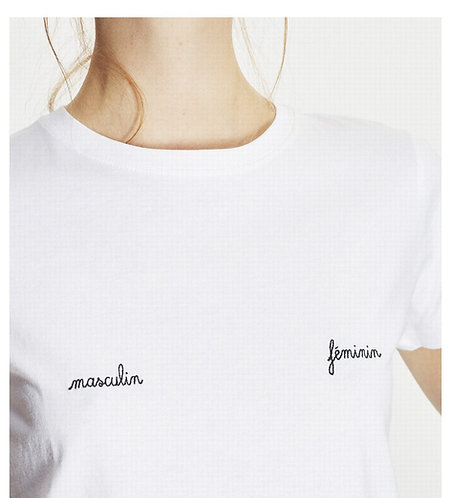 T-shirt branca MASCULIN-FÉMININ