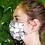 Thumbnail: Máscara em seda com forro de algodão, preta, Maison Malfroy