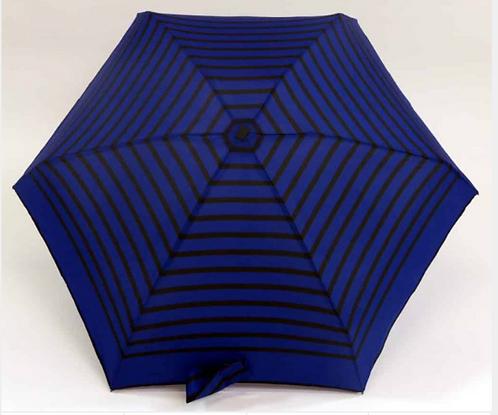 Guarda-chuva, riscas azul-preto