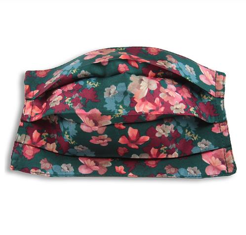 Máscara de seda, flores vert, Maison Malfroy