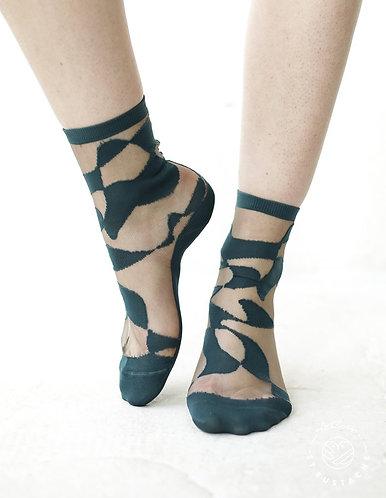 meias THAMES verde
