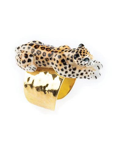 Anel Leopardo deitado