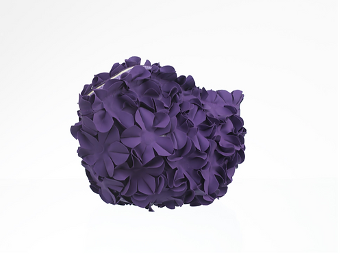 Swim Bag Flowers One Color Purple