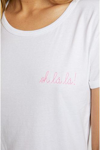 T-shirt branca OH LÀ LÀ!