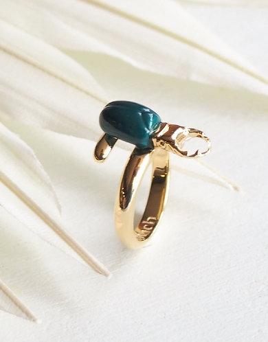 Anel Escaravelho Verde
