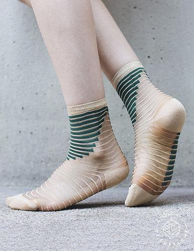 meias SHIBUYA verde