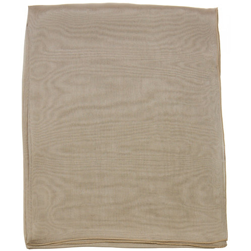 Écharpe em mousseline de seda, grège