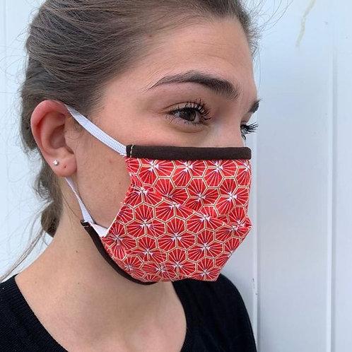 Máscara Bandit Manchot, vermelha