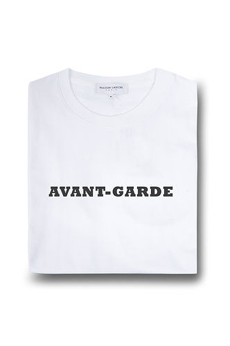 T-shirt AVANT-GARDE branca, Maison Labiche