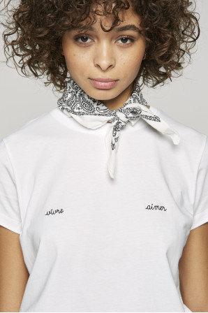 T-shirt branca VIVRE - AIMER