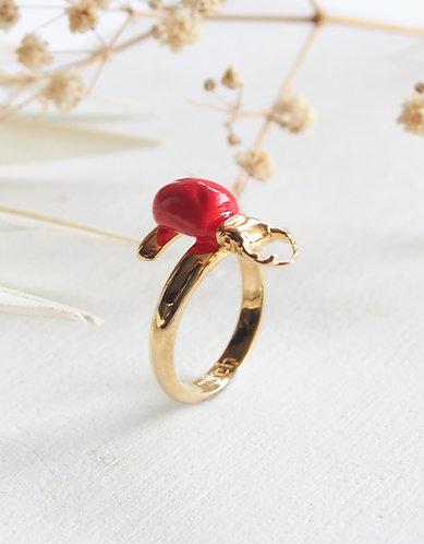 Anel Escaravelho Vermelho