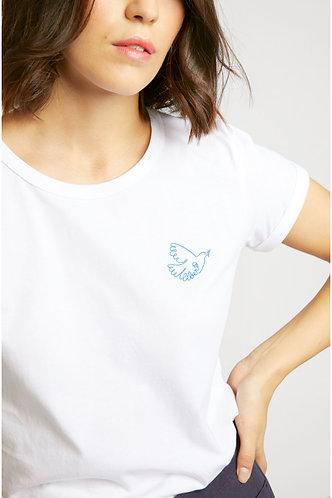 T-shirt branca LIBERTÉ
