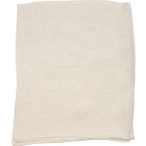 Écharpe em mousseline de seda, ivoire