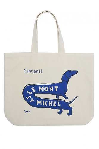 saco de compras, cão azul