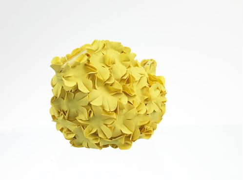 Swim Bag Flowers One Color Yellow