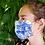 Thumbnail: Máscara em seda, Toile de Jouy azul, Maison Malfroy