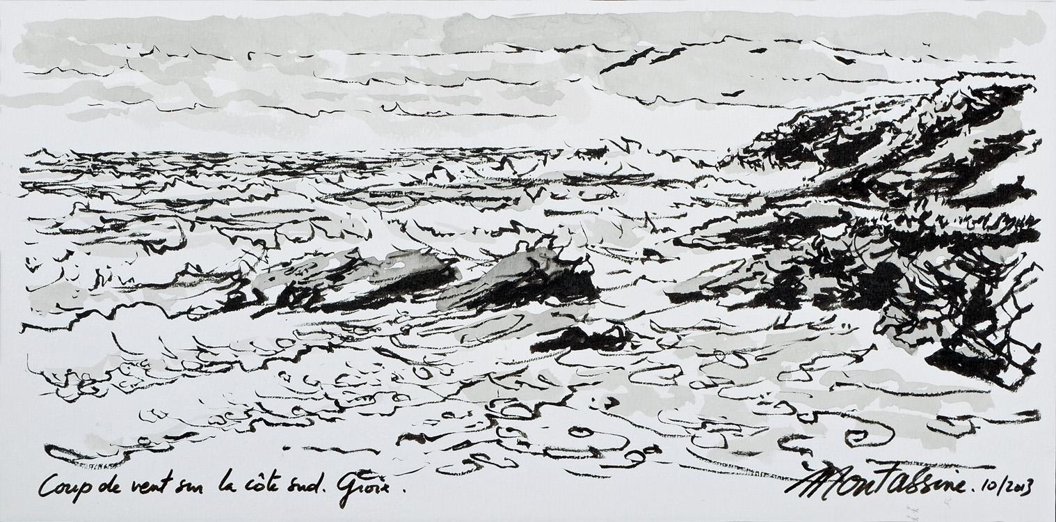 """""""Coup de vent sur la côte Sud"""" Groix"""