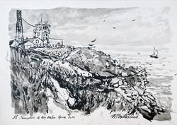 """""""Le Sémaphore de Beg Melen"""" Groix"""