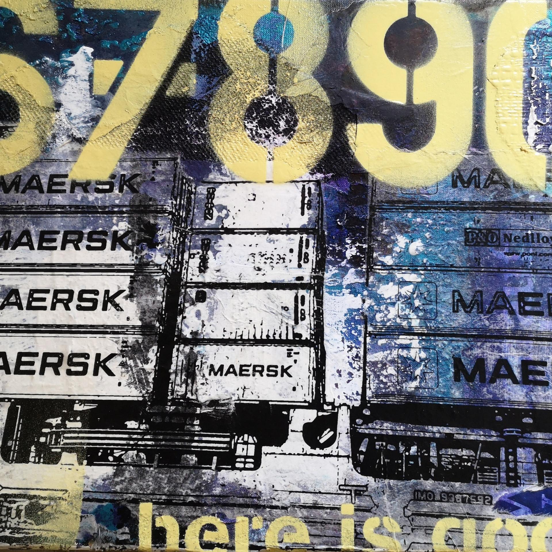 Maersk Hamburg,35x27cm auf Leinwand