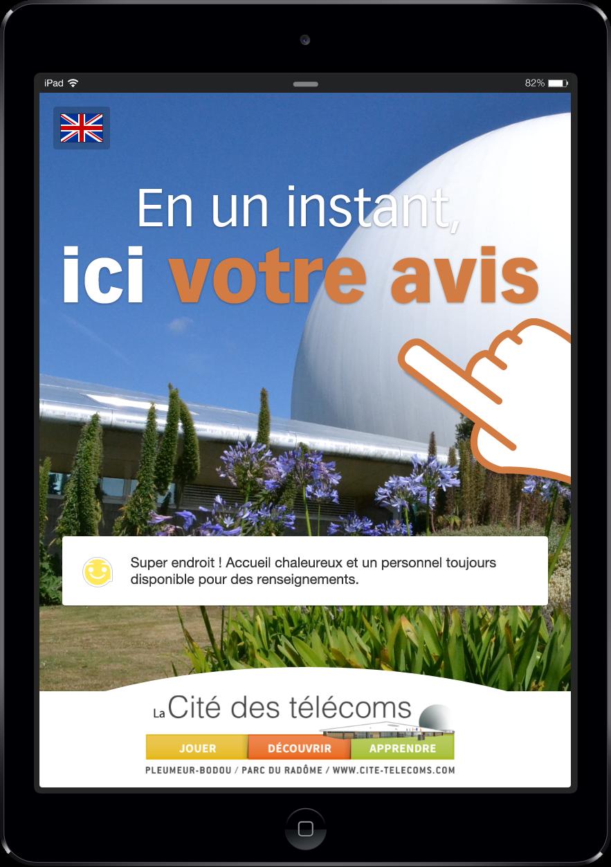 Livre d'or digital Cité des Télécoms : borne de satisfaction Civiliz