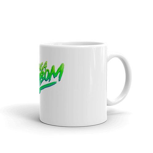 """""""Chica Bom Bom"""" White glossy mug"""