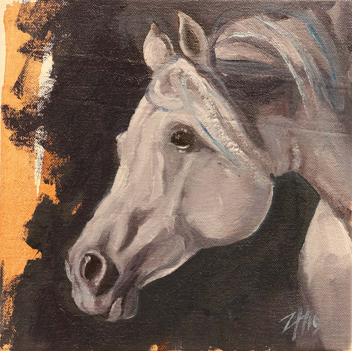 Equine Head Arab White (study 5)