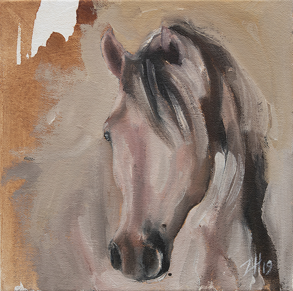 Equine Head Arab White (study 30)