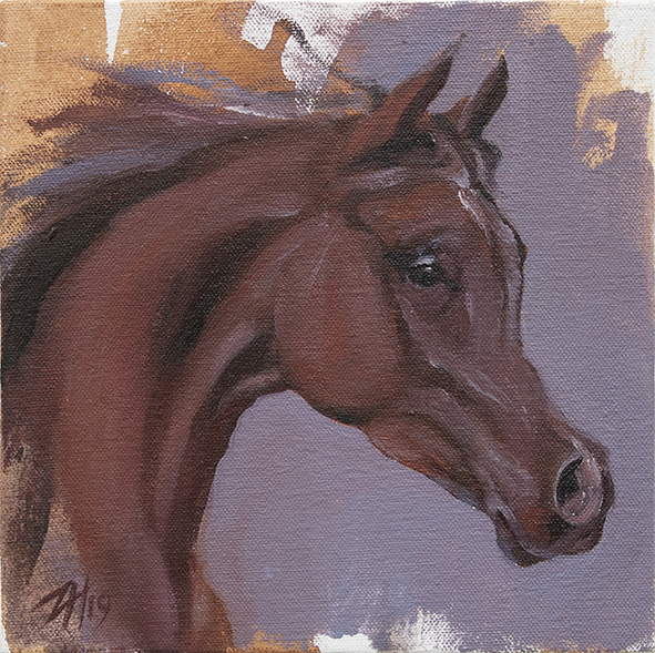 Equine Head Chestnut (study 22)