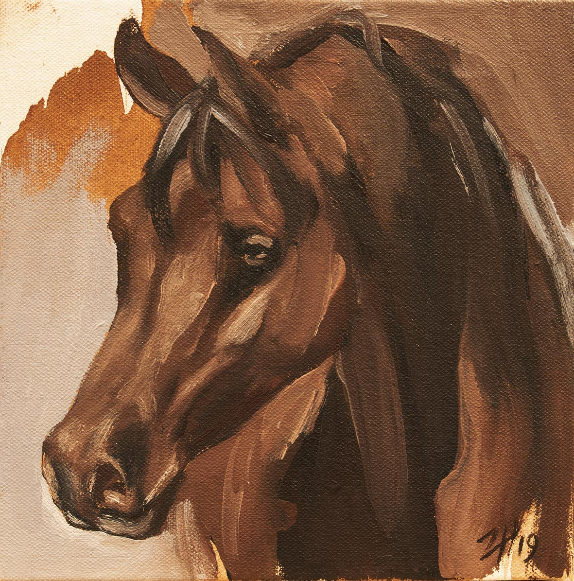 Equine Head Arab Chestnut (study 14)