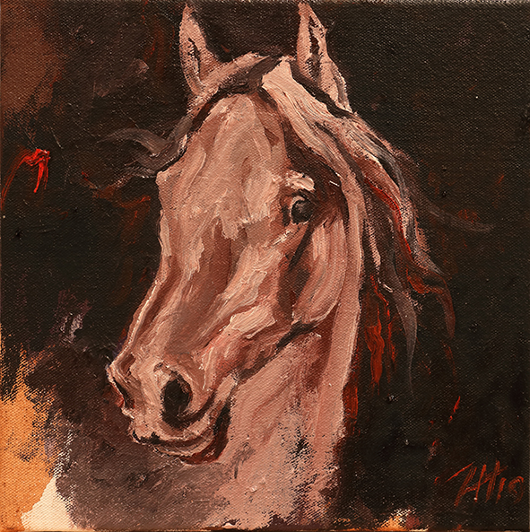 Equine Head Arab White (study 19)